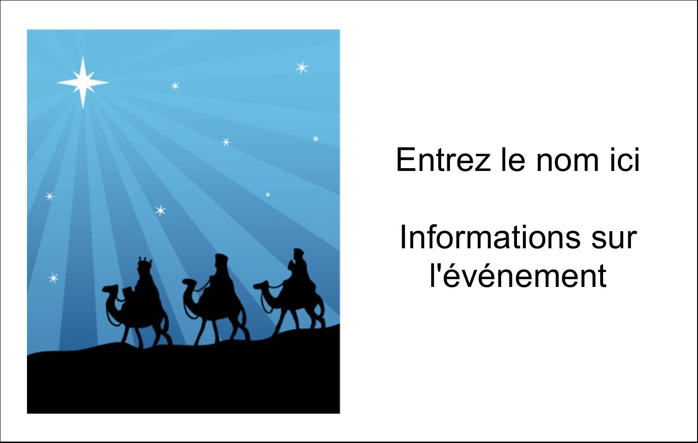 """3"""" x 4"""" Étiquettes badges autocollants - Trois rois mages"""