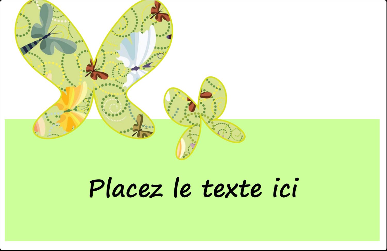 """8½"""" x 5½"""" Étiquettes d'expédition - Deux papillons"""