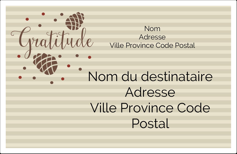 """1½"""" x 4"""" Étiquettes d'adresse - Gratitude"""