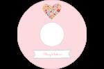 Cœurs et fleurs Étiquettes de classement - gabarit prédéfini. <br/>Utilisez notre logiciel Avery Design & Print Online pour personnaliser facilement la conception.