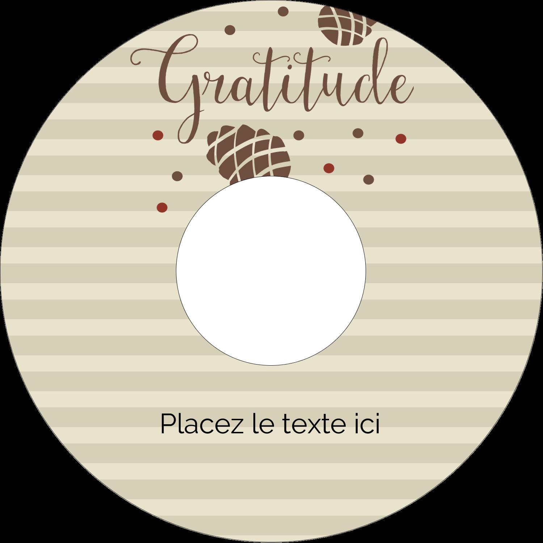 """⅔"""" x 3-7/16"""" Étiquettes de classement - Gratitude"""