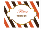 Rayures de l'Action de grâce Étiquettes d'expéditions - gabarit prédéfini. <br/>Utilisez notre logiciel Avery Design & Print Online pour personnaliser facilement la conception.