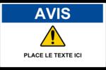 Avis – Zone réglementée Étiquettes d'expéditions - gabarit prédéfini. <br/>Utilisez notre logiciel Avery Design & Print Online pour personnaliser facilement la conception.