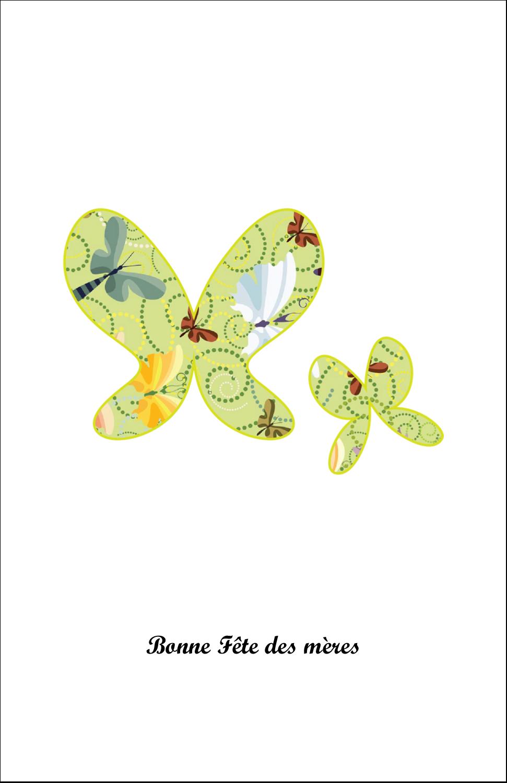 """8½"""" x 5"""" Cartes Et Articles D'Artisanat Imprimables - Deux papillons"""