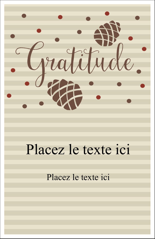 """8½"""" x 11"""" Binder Insert Reliures - Gratitude"""