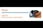 Musique de DJ Étiquettes Polyvalentes - gabarit prédéfini. <br/>Utilisez notre logiciel Avery Design & Print Online pour personnaliser facilement la conception.
