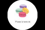 Macarons français Étiquettes Voyantes - gabarit prédéfini. <br/>Utilisez notre logiciel Avery Design & Print Online pour personnaliser facilement la conception.