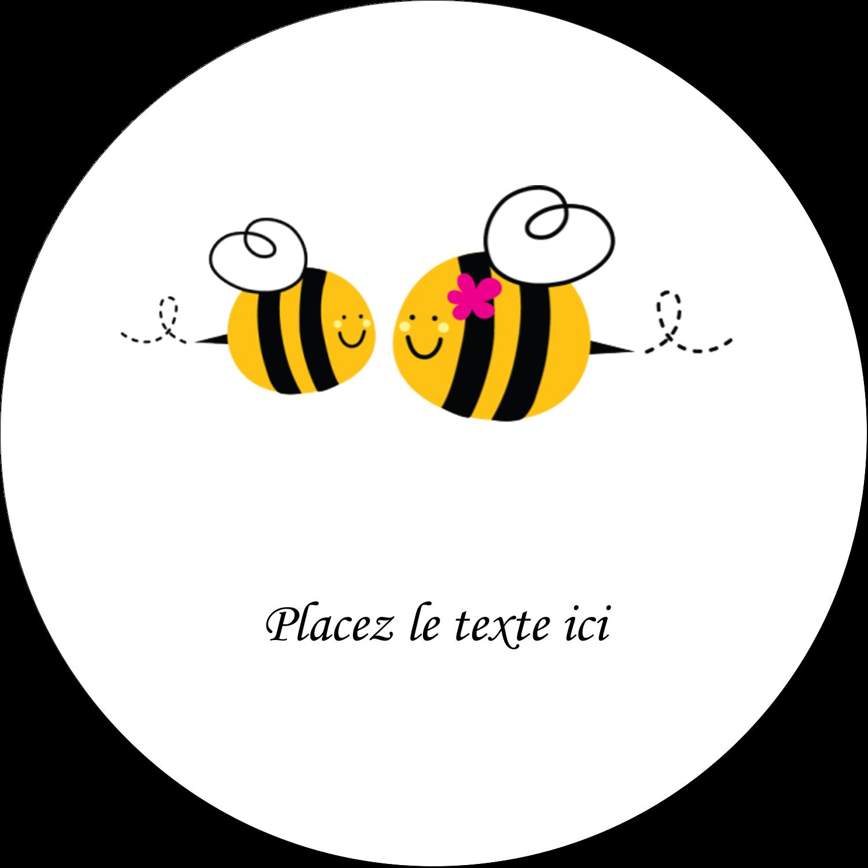 """1½"""" Diameter Étiquettes Voyantes - Maman abeille"""
