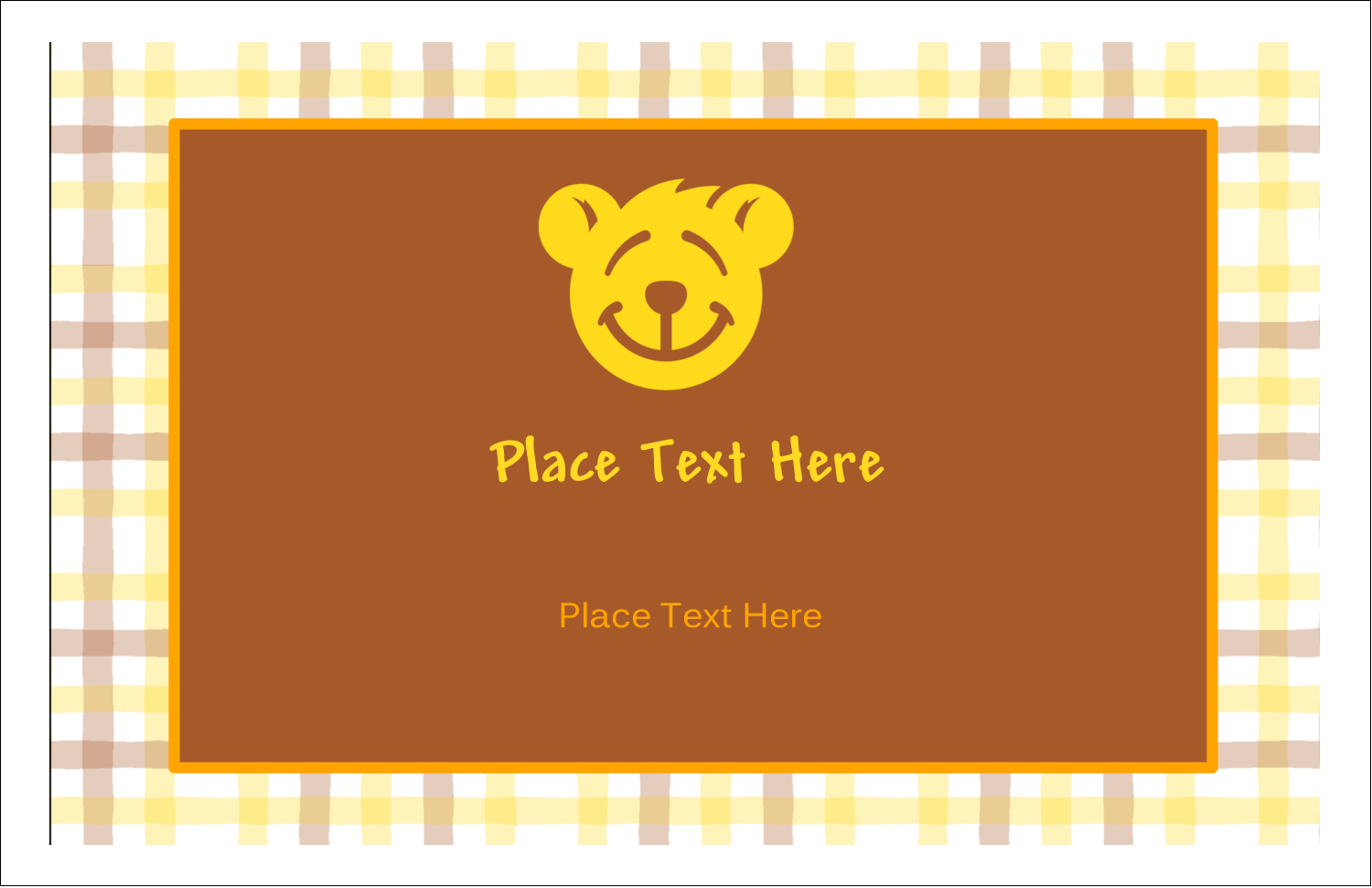 "5½"" x 8½"" Greeting Card - Bear Yellow"