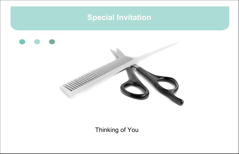 "5½"" x 8½"" Greeting Card - Beauty Hair Care"