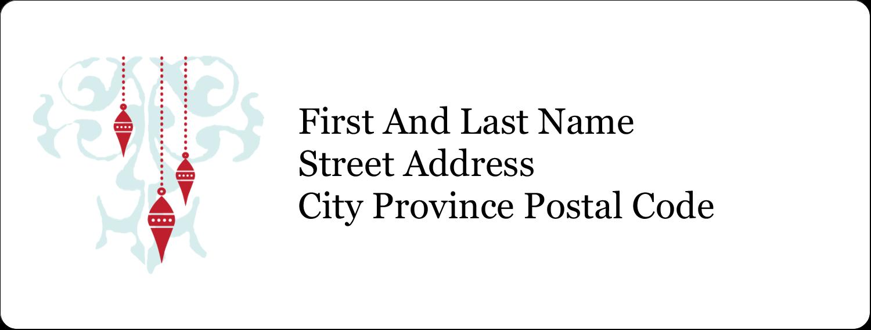 "1"" x 2⅝"" Address Label - Elegant Christmas"