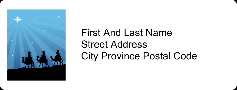 "1"" x 2⅝"" Address Label - Three Wise Men"