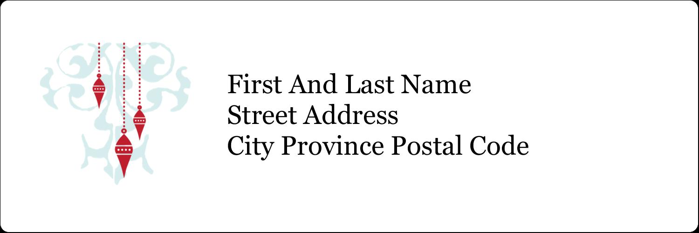 "1⅓"" x 4"" Address Label - Elegant Christmas"