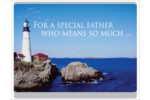 Accentuate all your Father's Day decorations with a lighthouse along the rocky shoreline!