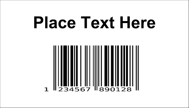 """2"""" x 3½"""" Business Card - Bin Barcode"""