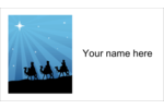 Bring a sense of peace and wonder to projects with pre-designed Three Wise Men templates.