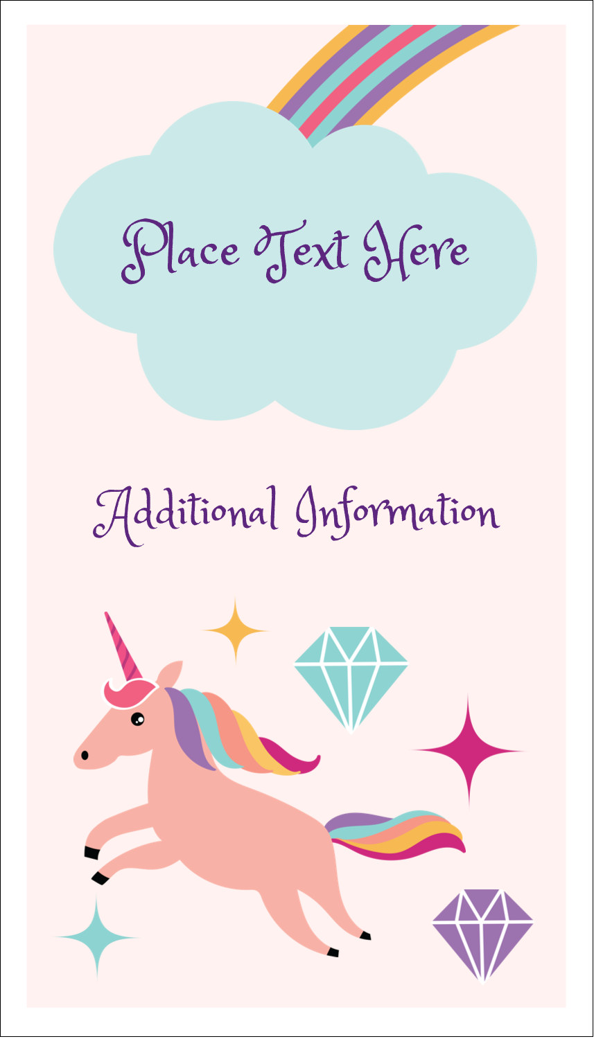 "3½"" x 2"" Business Card - Unicorn Party"