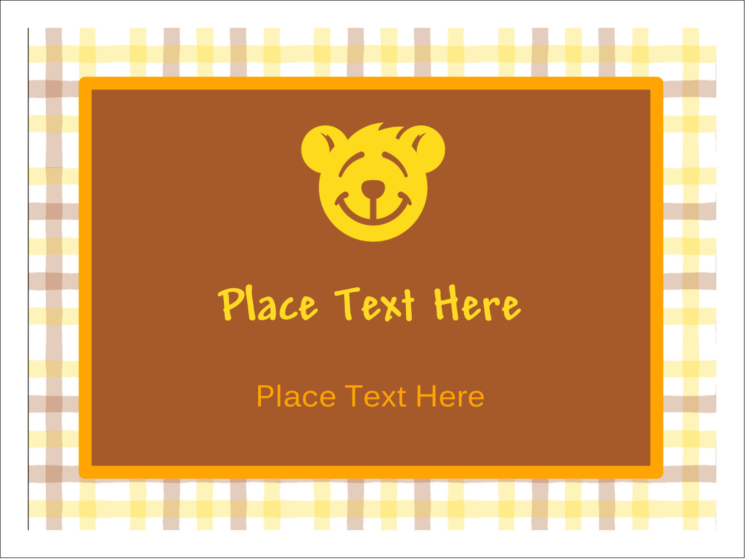 "3"" x 4"" Name Tags - Bear Yellow"