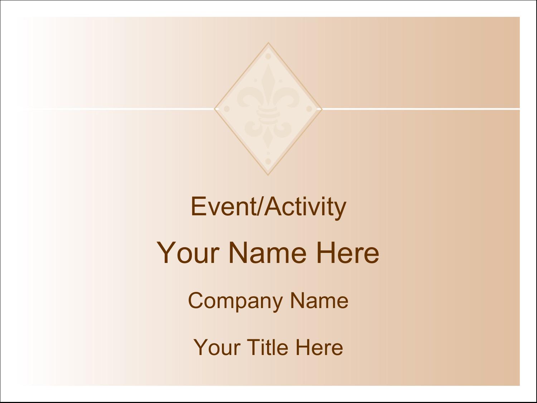 "3"" x 4"" Name Tags - Beige Diamond"