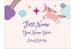 Add dreamlike whimsy to custom projects with pre-designed Unicorn Party templates.