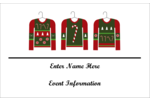 Pep up custom personal or professional projects with pre-designed Ugly Sweater templates.