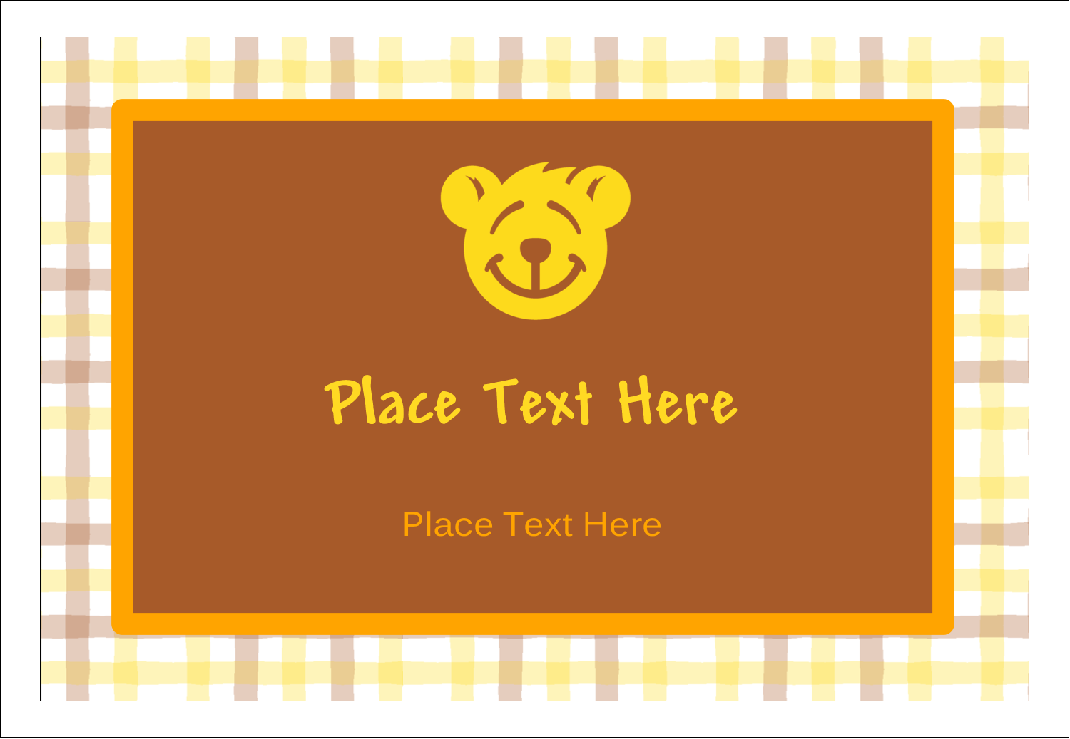 "3⅜"" x 2⅓"" Name Badge - Bear Yellow"