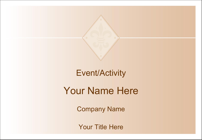 """3⅜"""" x 2⅓"""" Name Badge - Beige Diamond"""