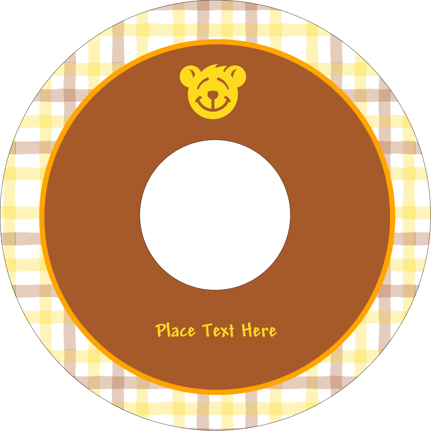 "4.65"" CD-DVD Label - Bear Yellow"