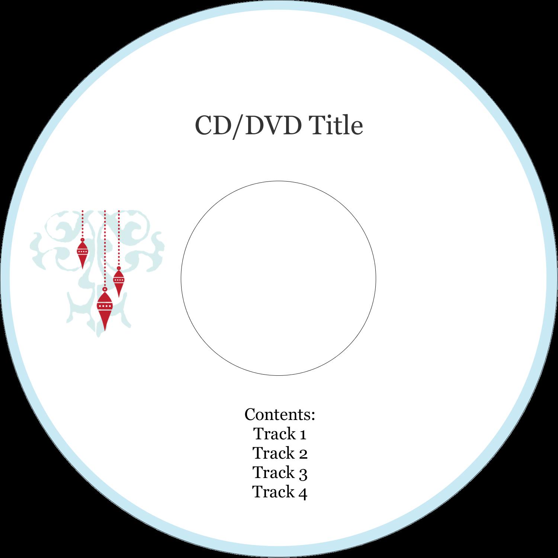 """4.65"""" CD-DVD Label - Elegant Christmas"""