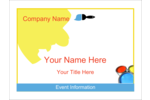 Colour your event with this paint by numbers template design.