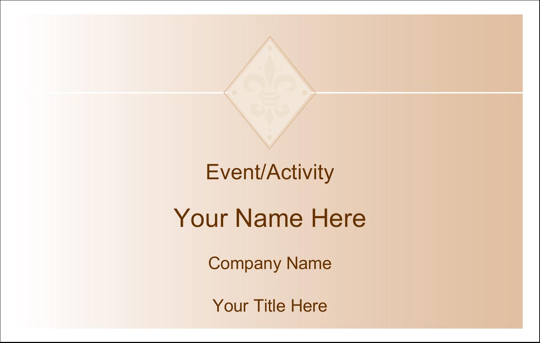 "2¼"" x 3½"" Name Tags - Beige Diamond"