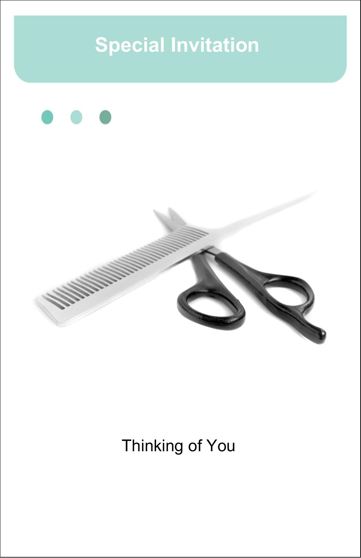 """5"""" x 8½"""" Half Fold Card - Beauty Hair Care"""