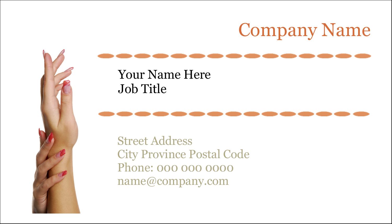 "2"" x 3½"" Business Card - Beauty Treatment"