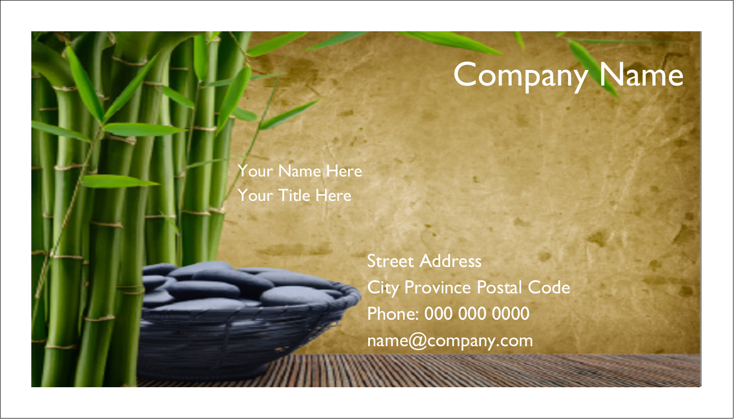 """2"""" x 3½"""" Business Card - Well Being"""