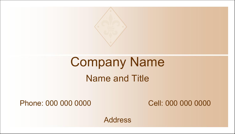 "2"" x 3½"" Business Card - Beige Diamond"