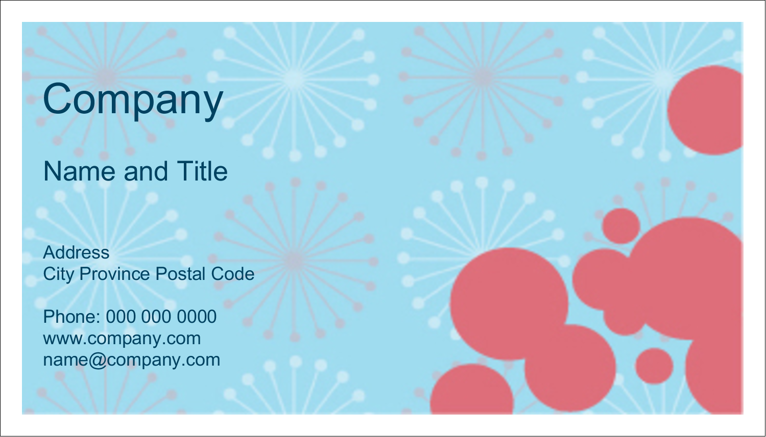 "2"" x 3½"" Business Card - Simple Celebration"