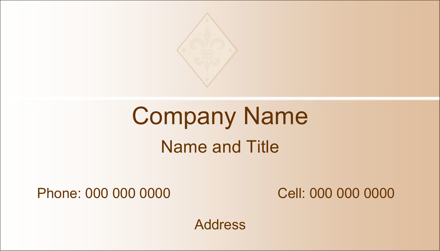 "2"" x 3½"" Business Card - Beige Diamond"