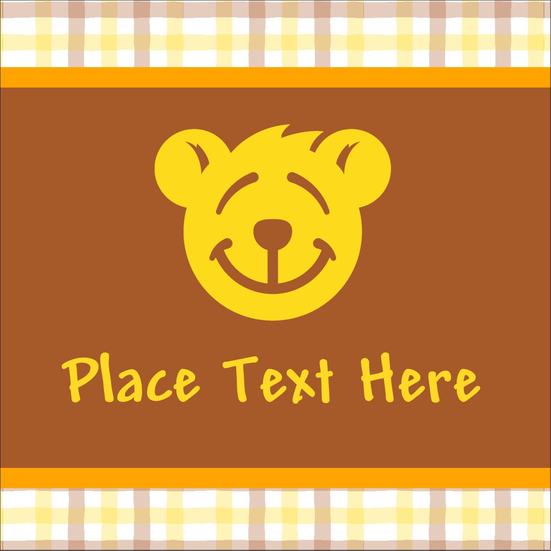 "1½"" x 1½"" Square Label - Bear Yellow"