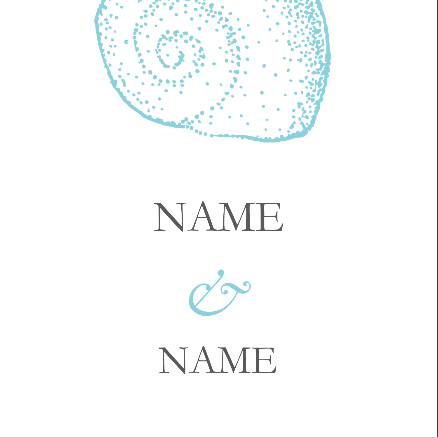 "1½"" x 1½"" Square Label - Beach Blue"