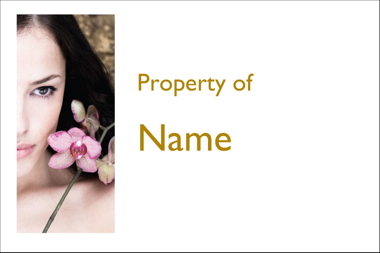 x  Multi-Purpose Labels - Beauty Orchid Woman