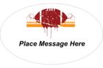 Show off your love of football with The Football Grunge predesigned template. has a football pig-skin shown in an abstract painterly splash, almost like an ink-graphic design.