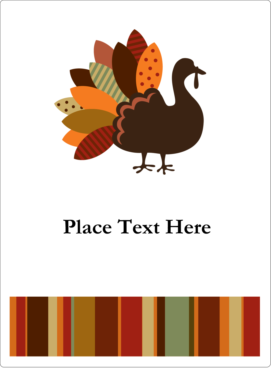 "4¾"" x 3½"" Rectangular Label - Turkey Leaf"
