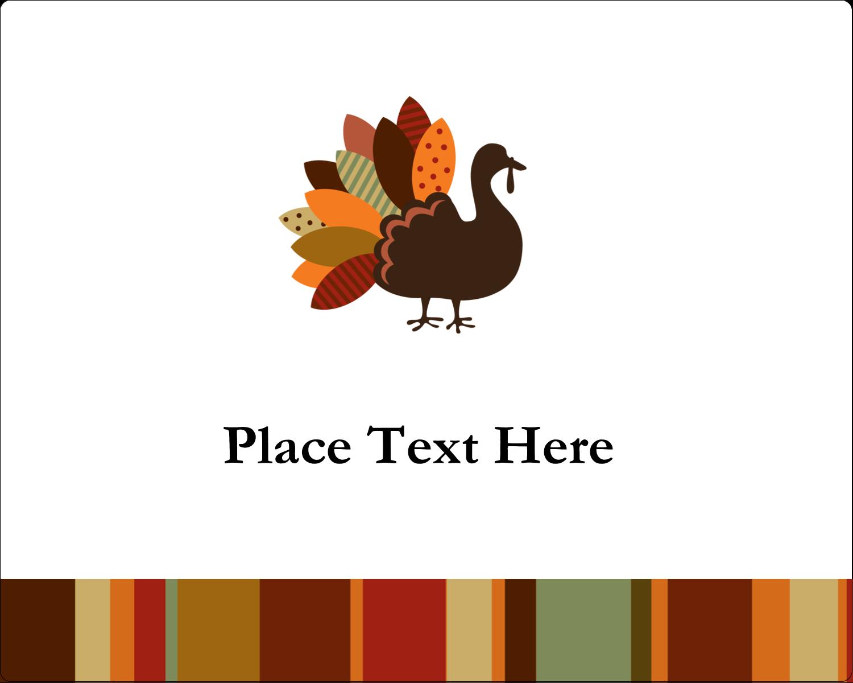 """3"""" x 3¾"""" Rectangular Label - Turkey Leaf"""