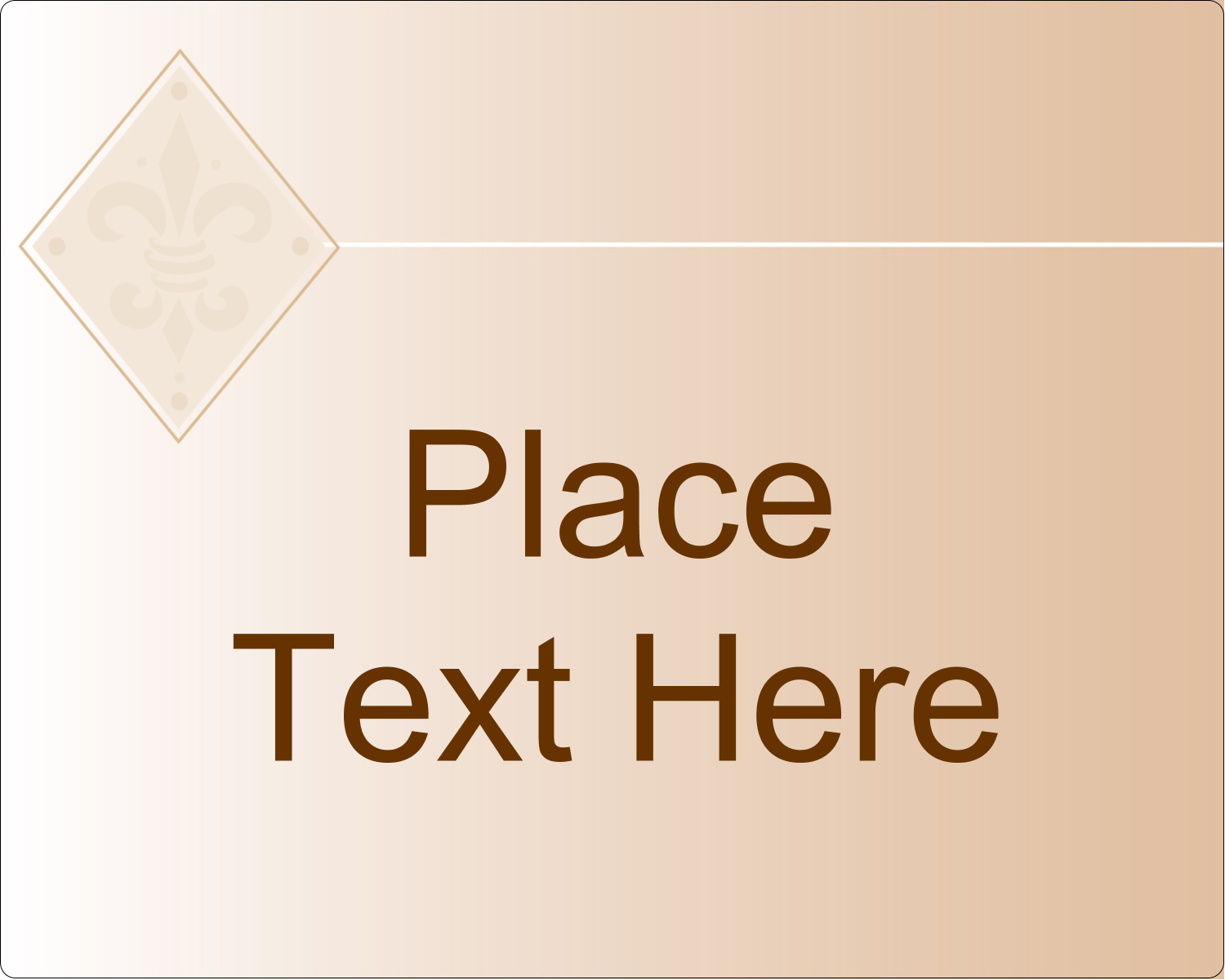 "3"" x 3¾"" Rectangular Label - Beige Diamond"
