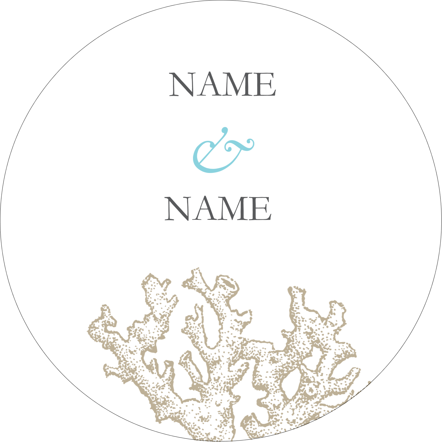 "2½"" Round Label - Beach Blue"