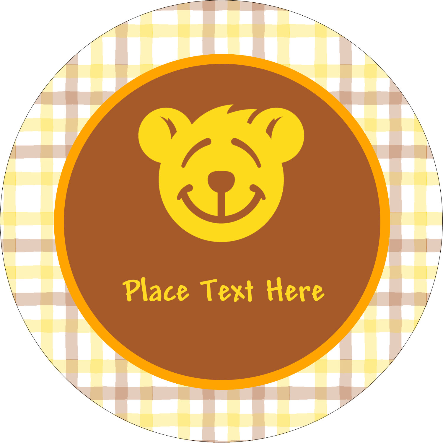 "2½"" Round Label - Bear Yellow"