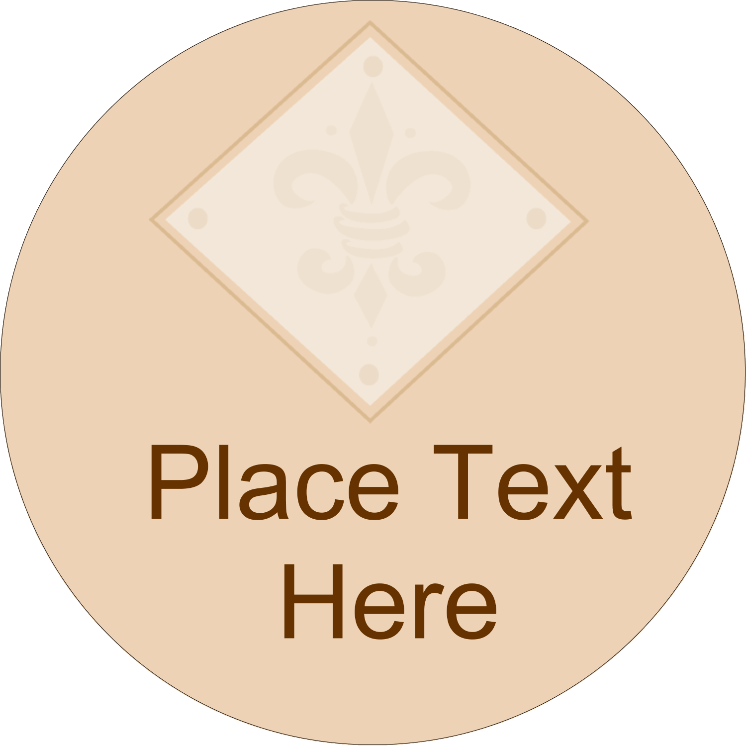 "2½"" Round Label - Beige Diamond"