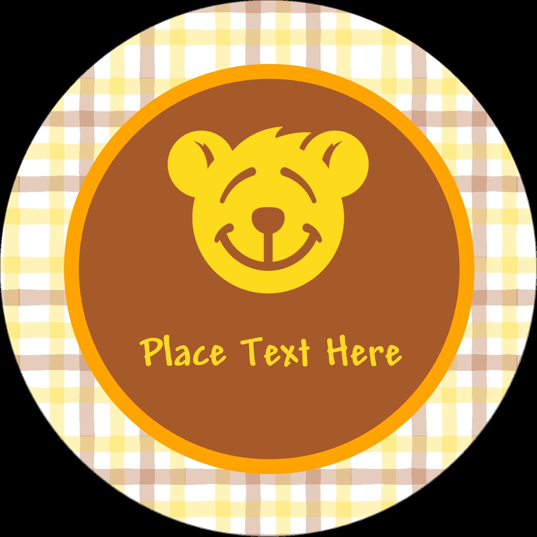 "2"" Round Label - Bear Yellow"