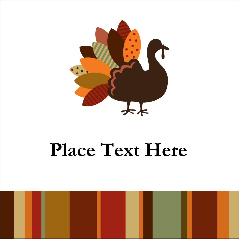 """2"""" x 2"""" Sqaure Label - Turkey Leaf"""