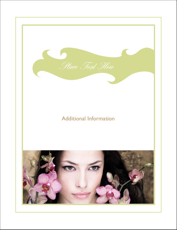 "4¼"" x 5½"" Postcard - Beauty Orchid Woman"